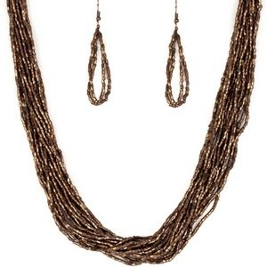**5 for $25 Copper SeedBead Necklace with Earrings